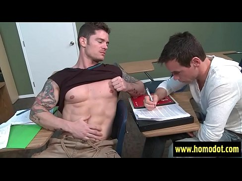 Big Dicks At School . Cock Massage In Gay Porn Video