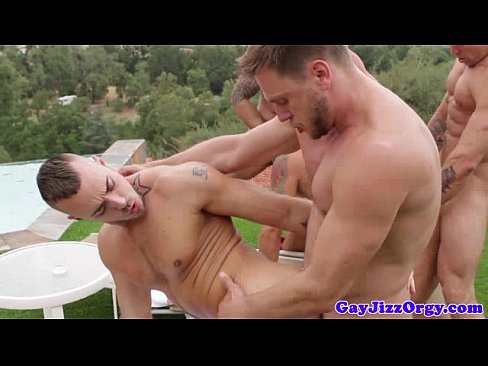 Muscled Hunks Outdoor Group Fucking