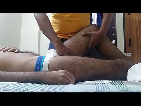 Hot Guy With White Underwear Getting A Massage