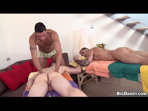 Threesome Massage And Orgy
